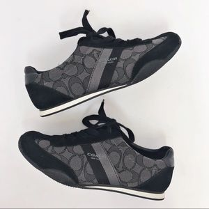 COACH | Kelson Signature Black Smoke Sneaker 6.5